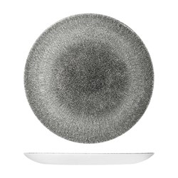 RAKU COUPE PLATE 217MM QUARTZ BLACK (12)