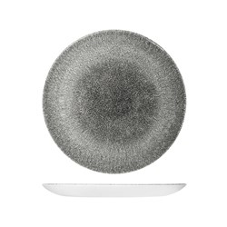 RAKU COUPE PLATE 260MM QUARTZ BLACK (12)