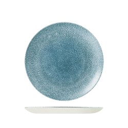 RAKU COUPE PLATE 260MM TOPAZ BLUE (12)