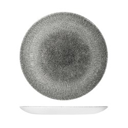 RAKU COUPE PLATE 288MM QUARTZ BLACK (12)