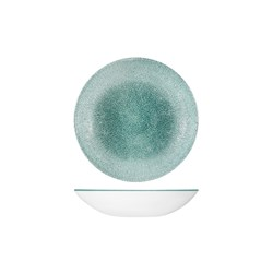 RAKU COUPE BOWL 182MM 426ML JADE GREEN (12)