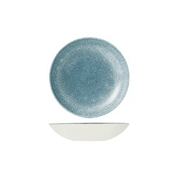 RAKU COUPE BOWL 182MM 426ML TOPAZ BLUE (12)