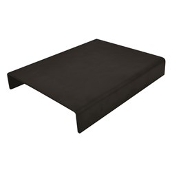GASTRO TRAY CURVED BLK MELAMINE 265X325X40MM (12/24)