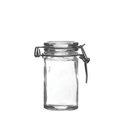 MINI APPETISER ROUND JAR GLASS 63ML W/- LID 45X85MM (12/108)