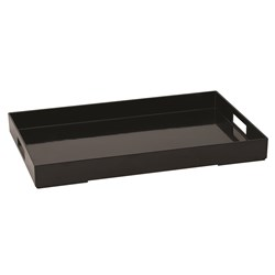 PLATEX TRAY MELAMINE BLK 600X400MM (4)