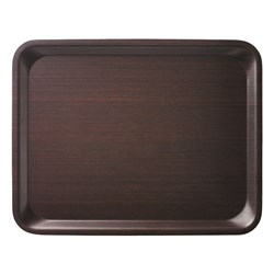 ACER BS MELAMINE LAMINATE TRAY DK WOOD LOOK  460X360MM (20)