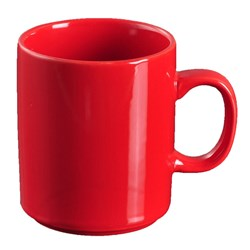 ESSENTIALS MUG CAN RED 350ML STACK (6/36)
