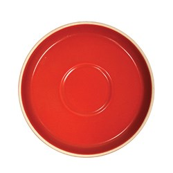 CAFE ESPRESSO SAUCER RED 118MM (6/96)