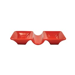 CAFE DBL CONDIMENT DISH RED 165X90X25MM (6/48)