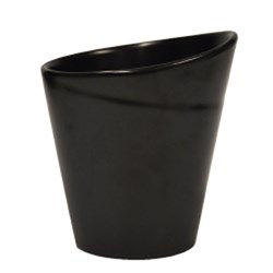 BASICS CHIP CUP MATTE BLK 90X102MM (6/48)