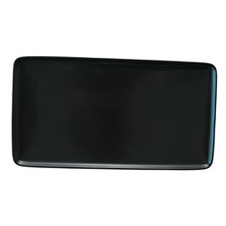 CAFE CHEFS TRAY BLK 282X153MM (6/18)