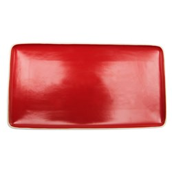 CAFE CHEFS TRAY RED 282X153MM (6/18)