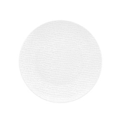 RIPPLE COUPE PLATE 250MM WHT (6/24)