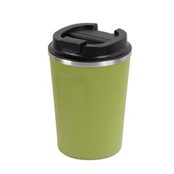REUSABLE COFFEE CUP 380ML OLIVE DBL WALL (24)