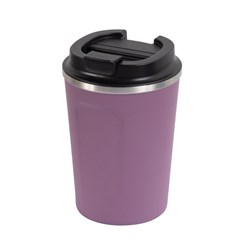 REUSABLE COFFEE CUP 380ML BERRY DBL WALL (24)