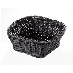 PRO.MUNDI BREAD BASKET SQ BLK 190X190X70MM P/PROP (72)