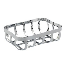 BREAD BASKET FLAT CHROME 210X150X65MM (24)