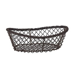 BREAD BASKET OVAL S/S MESH 230X150X80MM (80)