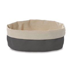 CANVAS BASKET DK GREY CREAM 200X150MM (24/72)