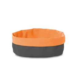 CANVAS BASKET DK GREY ORANGE 250X180MM (24/72)