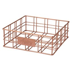ORWELL SQ BASKET COPPER 200X200X70MM (4) NAPKIN HOLDER