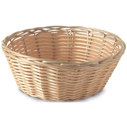 BREAD BASKET RND 250MM NATURAL P/PROP (12/72)