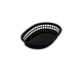 BASKET BREAD RECT BLK P/PROP 270X180X40MM (36)