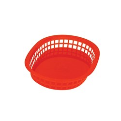 BASKET RECT PLASTIC RED 270X180X40MM (36)