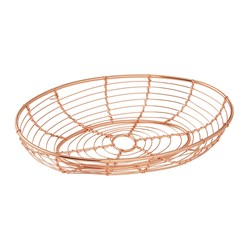 ORWELL SERVING BASKET OVAL 245X150X45MM (6) COPPER
