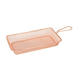 SERVICE BASKET RECT 260X130X50 COPPER (6/24)