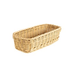 CUTLERY HOLDER WOVEN BASKET 280X110X70MM