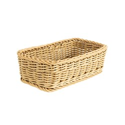 RECT WOVEN BASKET 240X140X80MM
