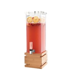 BEVERAGE DISPENSER 7.5LT BAMBOO BASE