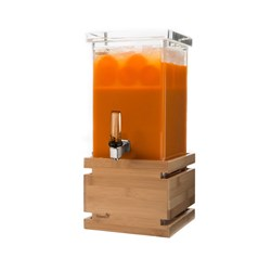 BEVERAGE DISPENSER 3.8LT BAMBOO BASE