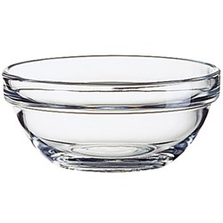 STACK EMPILABLE BOWL 100MM TUFF GLASS (36)