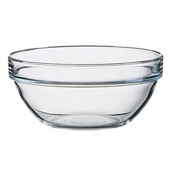 STACK EMPILABLE BOWL 260MM TUFF GLASS (6)