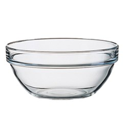 STACK EMPILABLE BOWL 90MM TUFF GLASS (6/36)
