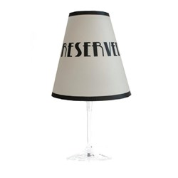 LUMI ART LAMP SHADE RESERVED SUIT WINE GLASS 48/PKT WS212