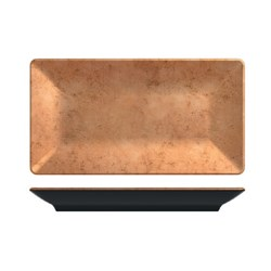 UTAH COPPER RECT PLATTER 325X176MM MELAMINE (6/24)