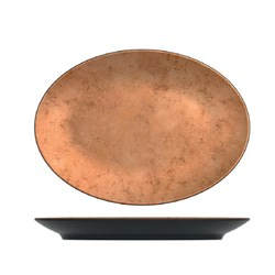UTAH COPPER OVAL PLATTER 345X250X35MM MELAMINE (6/18)