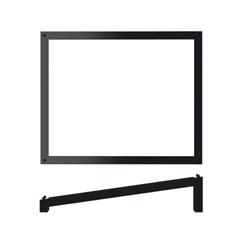 BLK LUXOR METAL STAND 1/2 ANGLED RISER 325X265X70MM (4)