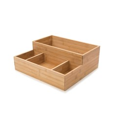CONDIMENT TRAY LGE BAMBOO 406X375X152MM