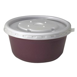 DISPOSABLE HIGH HEAT BOWL LID WHITE 1000/CTN ALADDIN