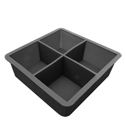 ICE MOULD SILICON 4 CUPS 45X45MM BLK