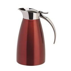 JUG 600ML VACUUM INSULATED RED S/S (12)