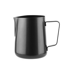 JUG 400ML CUT EDGE FROTHING MATTE BLK S/S (12)