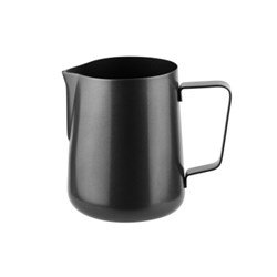 JUG 600ML FROTHING MATTE BLK S/S (12)