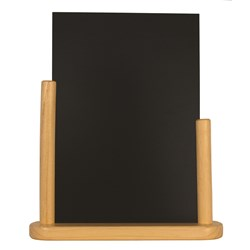 ELEGANT LGE TABLE CHALK BOARD WOOD 21X30CM (6)