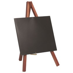 MINI TRIPOD TABLE CHALK BOARD WOOD 24X15CM 3/SET (10)