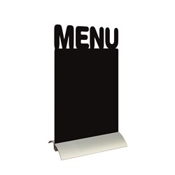 SILHOUETTE MENU CHALK BOARD ALUM BASE W/- CHALK MARKER (6)
